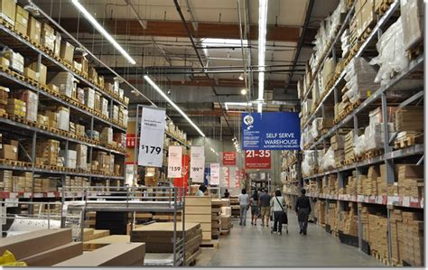 customer inside warehouse part of ikea home store stock how does ikea s inventory management supply chain strategy