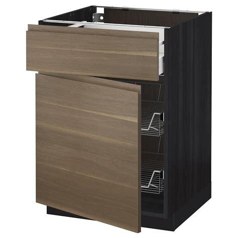 ikea basket drawers metod maximera base cab w wire basket drawer door black