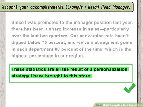 write   evaluation  sample evaluations