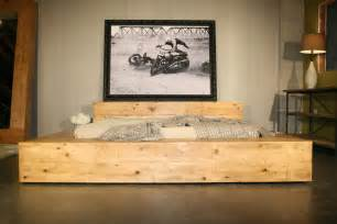 Wooden Bed Frames Za Hudson Bed Reclaimed Wood Beam Bed By Crofthousela On Etsy