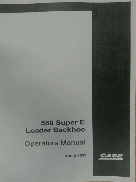 case  super   se backhoe operators manual operation maintenance book finney