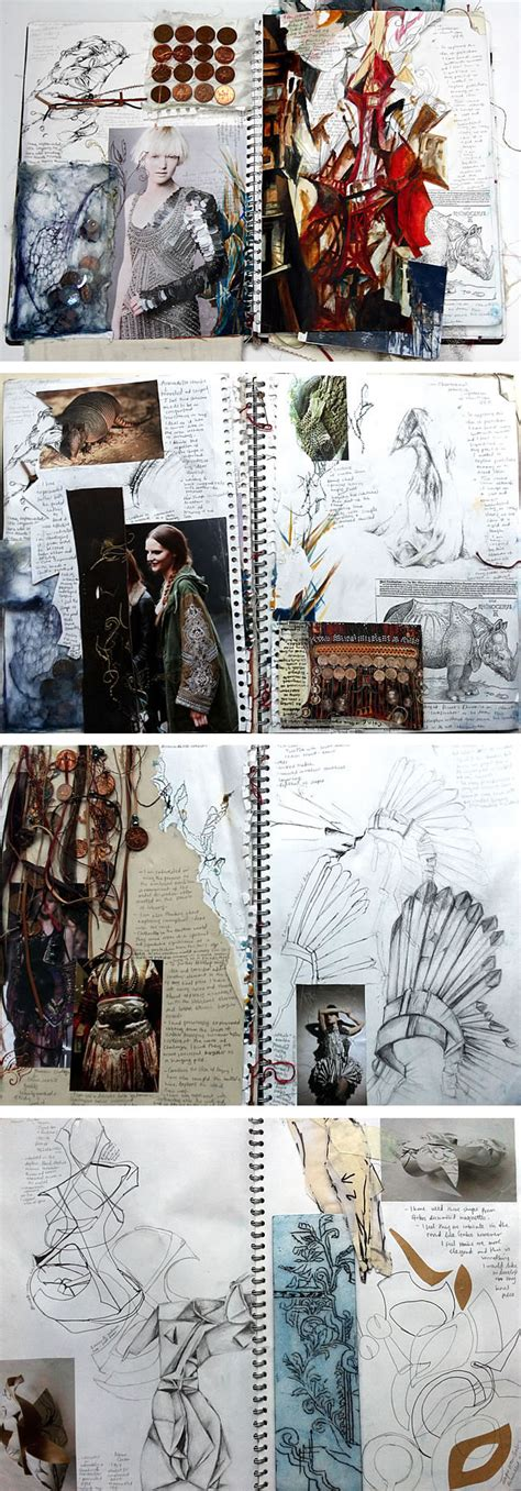 design inspiration hsc a level textiles beautiful sketchbook pages