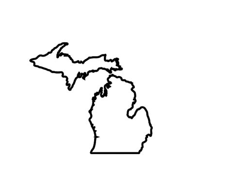 Outline Of Michigan State by Michigan State Outline Clipart Best