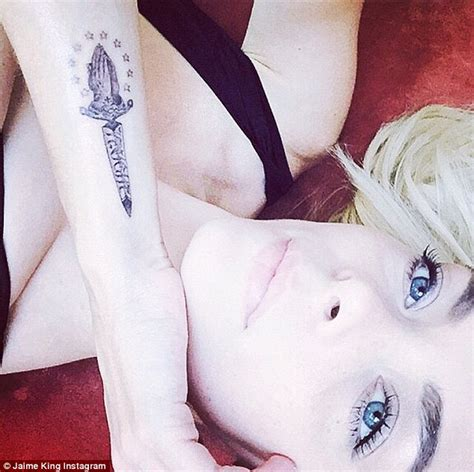 jaime king tattoo jaime king reveals new of a dagger on forearm