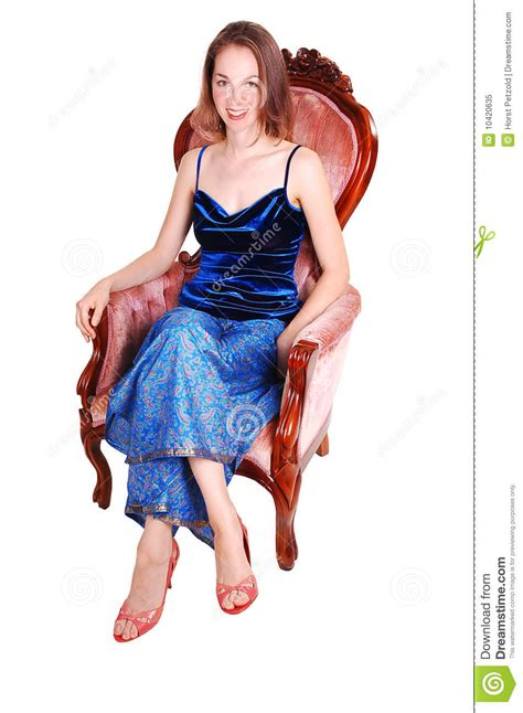 girls armchair pretty girl in armchair royalty free stock photo image