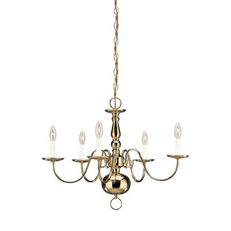 Westinghouse 5 Light Polished Brass Interior Chandelier Polished Brass Chandeliers