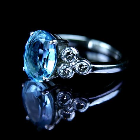 aquamarine and ring unique wedding rings