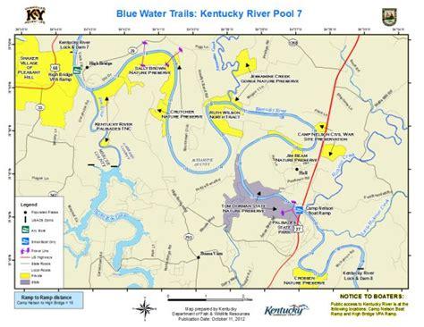 kentucky map with rivers kentucky department of fish wildlife kentucky river pool 7