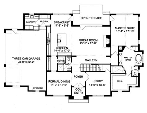 Tudor Style House Plan 4 Beds 4 00 Baths 3559 Sq Ft Plan