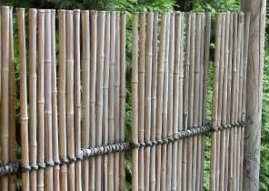 japanischer garten sichtschutz aus bambus trennwand