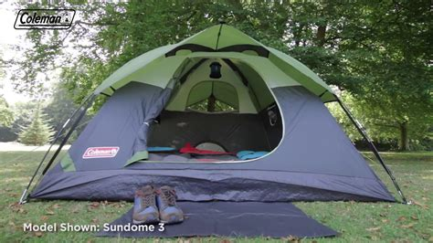 coleman 174 sundome 6 person tent en