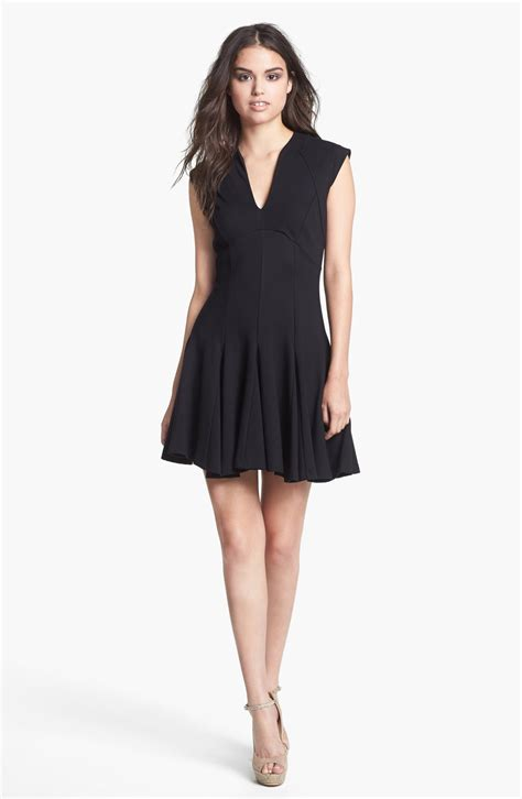 ponte knit dresses connection ponte knit fit flare dress in