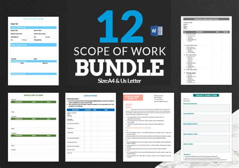 scope  work template   word  documents