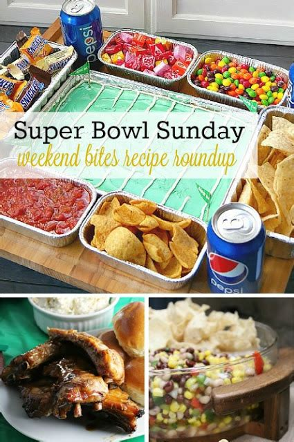 recipe round up of super bowl sunday appetizers desserts