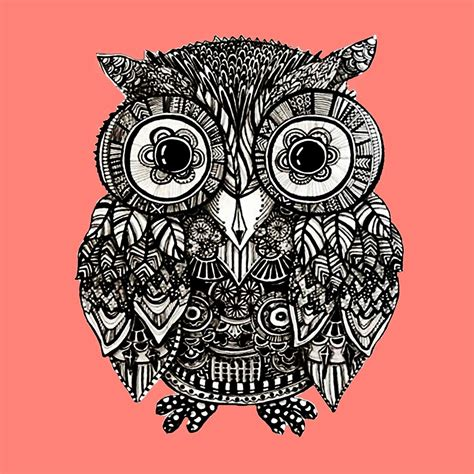 printable owl mandala quot mandala owl quot by annie2 redbubble