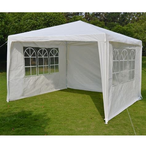 pavillon 2 5x2 5 white gazebo 4 canopy tent with sides 10 x 10
