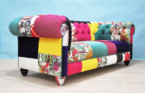 Chesterfield Patchwork Sofa - color patch chesterfield patchwork sofa