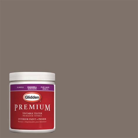 glidden premium 8 oz hdgwn26u fauna brown interior paint tester hdgwn26u 08p the home
