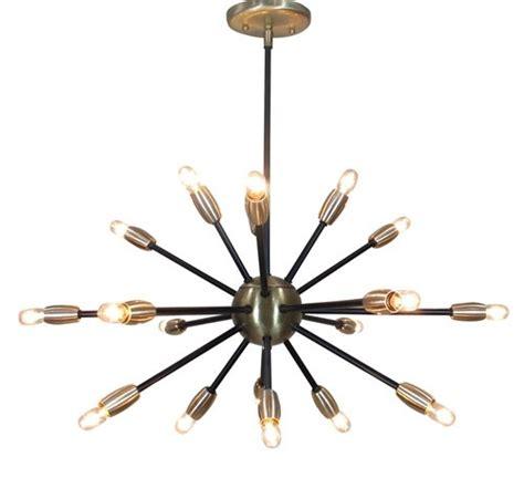 Black Sputnik Chandelier Black And Brass 18 Light Sputnik Chandelier V M Lighting