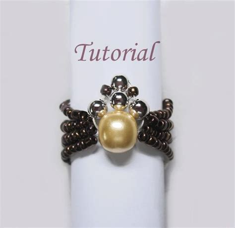 beaded ring tutorial free you to see beaded spider ring tutorial on craftsy