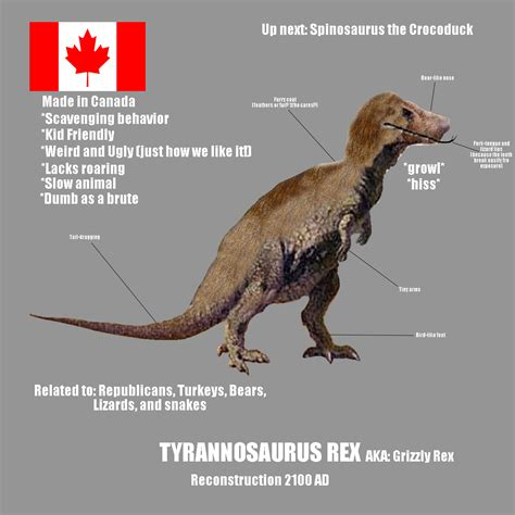 t rump the t rex a lyrical satirical cautionary fable books 21st inaccuracy grizzly rex by generalhelghast on deviantart