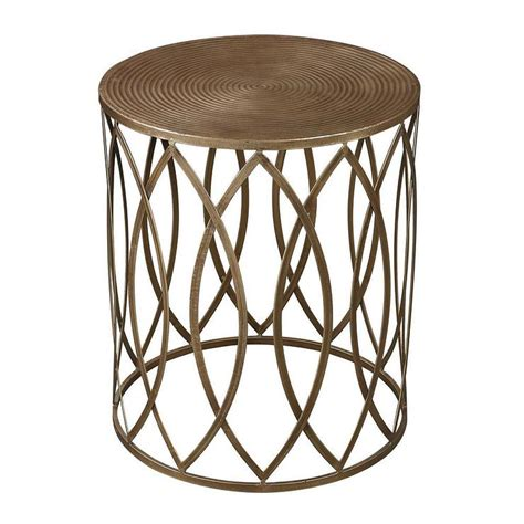 antique accent tables antique gold finish round metal accent table overstock com
