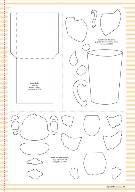 gratis template free templates from issue 132 papercraft inspirations