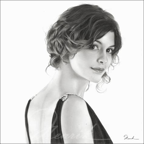 drawing of bob hair audrey tautou by shimoda7 on deviantart