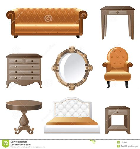 furniture home decor icon set indoor cabinet interior room