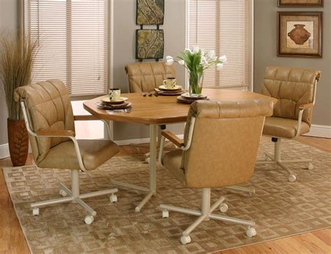 Casual Dining Chairs With Casters Bed And Shower Casual Dining Sets With Caster Chairs