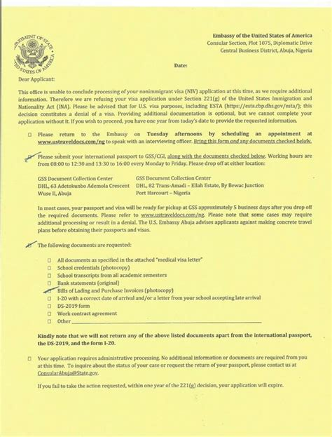 Rejection Letter Us Visa Bill Of Landing Purchase Invoices Required For Us Visa Travel Nigeria