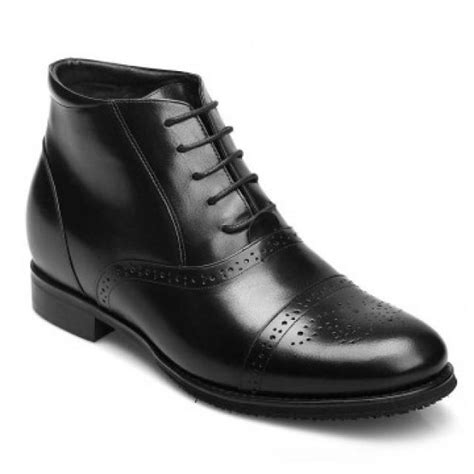 What Is Your Favorite Boot Height by Choose2015 New Fashion Calfskin Leather Black Elevator