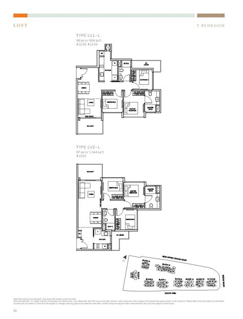 type l floor plan loft 3 bed the glades at tanah merah
