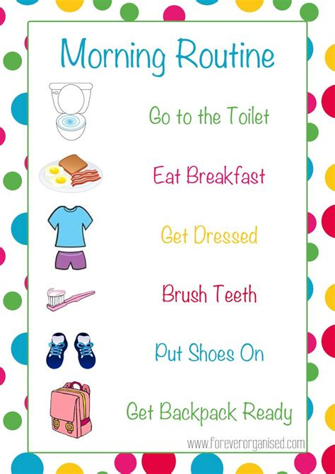 printable toddler morning routine chart 17 best ideas about morning routine chart on pinterest