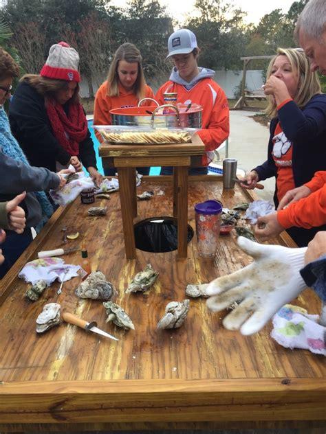backyard fire pit  oyster roast