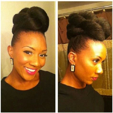 easy hairstyles in buns for african american hair professional natural hairstyles for black women