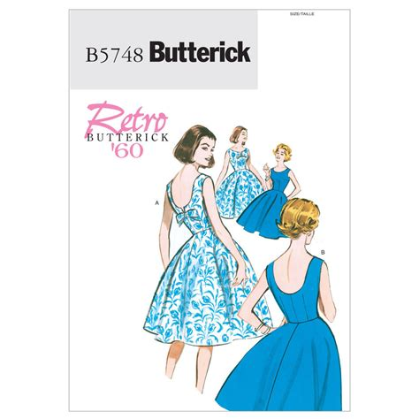 dress pattern latest butterick 5748 sewing pattern to make retro misses or