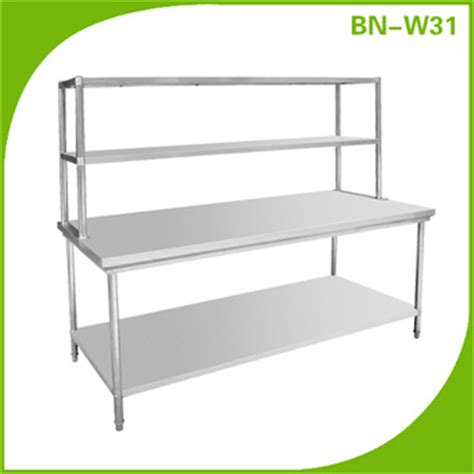 stainless steel work table with two shelves stainless steel prep station table commercial kitchen