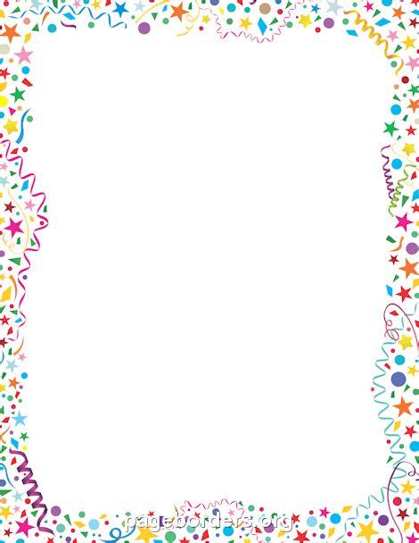 new year a4 border confetti border clip page border and vector graphics