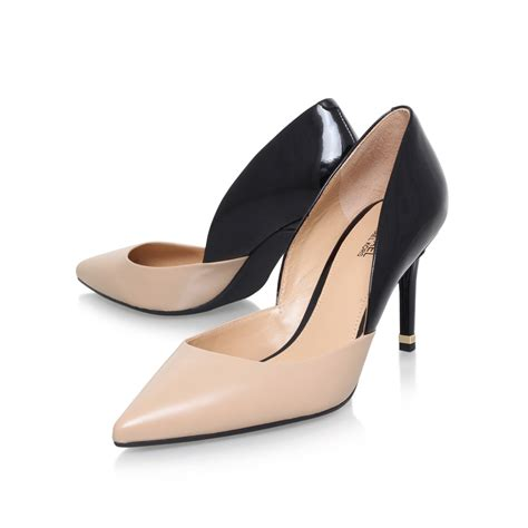 Sepatu Highheels Michael Kors Mk Flex Original ashby flex mid michael michael kors ashby black beige high heel court shoes by michael