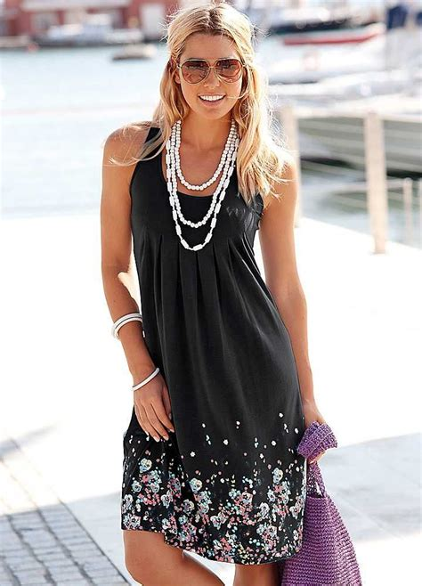 black petal print sun dress  beachtime fashion