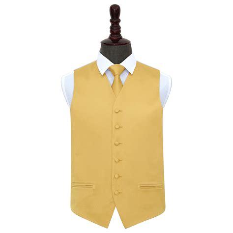 gold pattern waistcoat men s plain gold satin waistcoat tie set