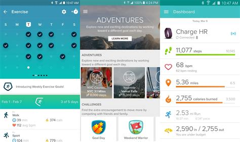 fitbit android fitbit android app update brings new dashboard bug fixes and performance improvements the