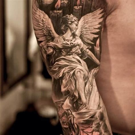 angel tattoo in arm best 25 angel tattoo designs ideas on pinterest