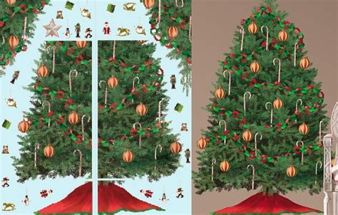 build a christmas tree wall mural sale