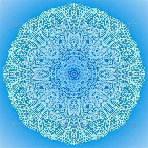 blue mandala pattern blue mandala antistress therapy pinterest lace