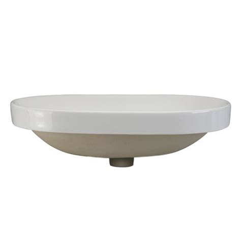Recessed Sinks by Decolav Classically Redefined Semi Recessed Oval Bathroom