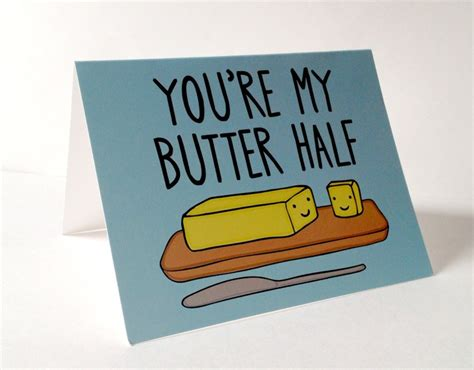you re butter half pun with envelope blank inside