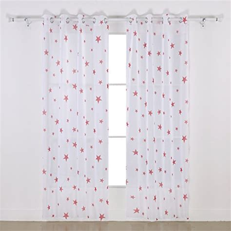sheer curtains with stars deconovo star curtains cotton sheer curtain print sheer