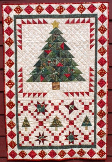 christmas tree crossing 40 quot x 60 quot at august wind quilt